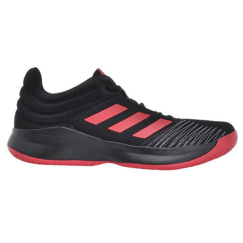 Adidas Men's Pro Spark 2018 Low With Box Black Scarlet - Teammvpsports