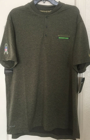 Nike Seattle Seahawks Men's Olive Salute to Service Sideline Polo Size XL - Teammvpsports