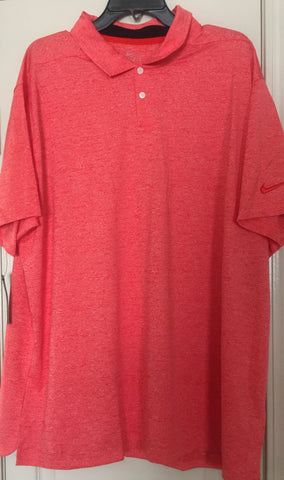 NIKE Men's Dri Fit Vapor Heather-Red Golf Polo Shirt 2019 Size 2XL - Teammvpsports