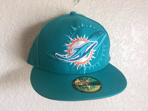 New Era Miami Dolphins Teal 59FIFTY Fitted Cap Size 7 1/2 - Teammvpsports