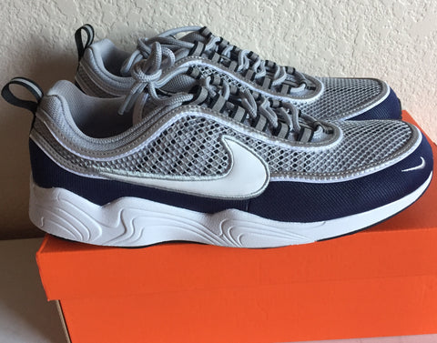 "Nike Air Zoom Spiridon ""16 Running Shoe, Wolf Grey/White-Midnight Navy - Teammvpsports"