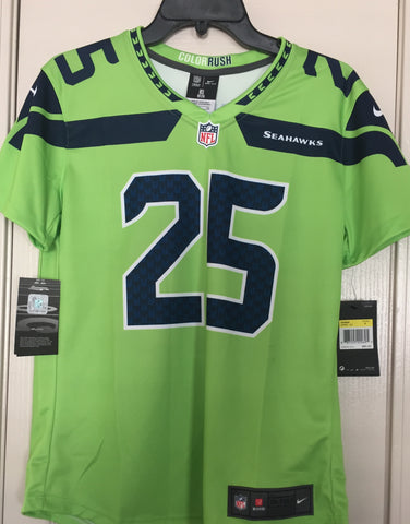 Nike Women's Seattle Seahawks Richard Sherman #25 Color Rush Jersey Size S - Teammvpsports