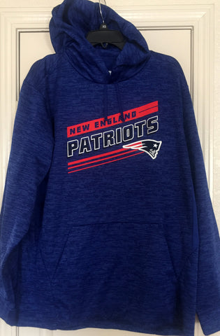 Team Apparel New England Patriots Blue Pullover Hoodie Size L - Teammvpsports