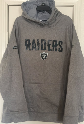 Under Armour Raiders Gray Storm Water Resistant Pullover Hoodie Size 2XL - Teammvpsports