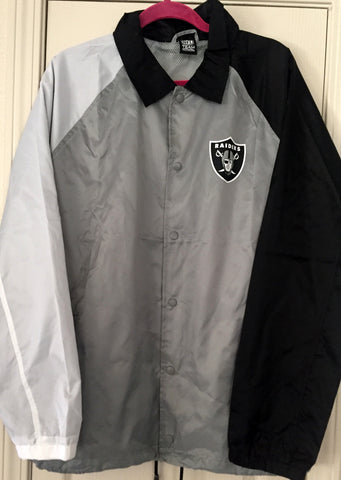 Team Apparel 3rd Collection Raiders Windbreaker Button Up Size M - Teammvpsports