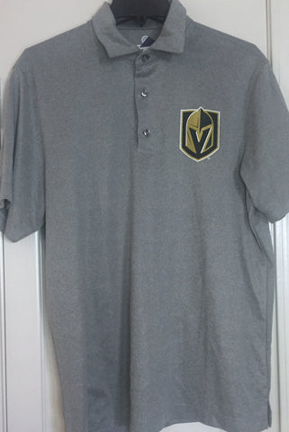Fanatics Vegas Golden Knights Gray Polo Golf Shirt Size L - Teammvpsports