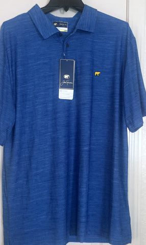 Jack Nicklaus Mens Lichen Blue StayDri Golf Polo Shirt Sizes M, L, XL - Teammvpsports