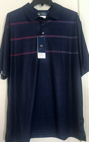 Jack Nicklaus Mens Classic Navy StayDri Golf Polo Shirt Sizes  L, XL - Teammvpsports