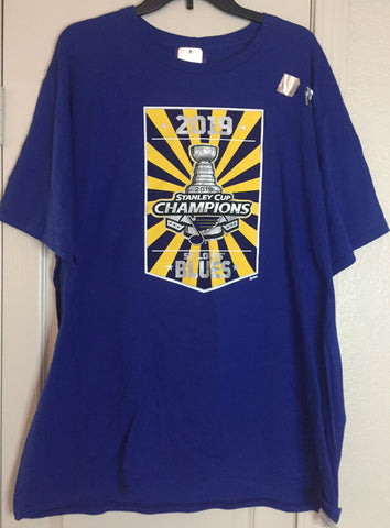 NHLPA Blue Short Sleeve Shirt St Louis Blues Stanley Cup Champions Size 2XL - Teammvpsports