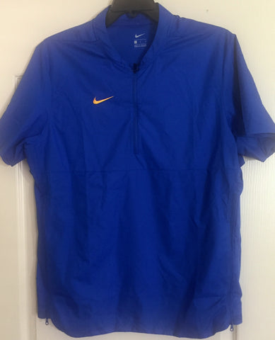 Nike Quarter Zip Hot Jacket Short Sleeve Blue - Teammvpsports