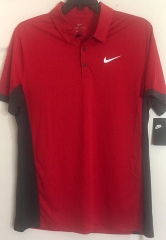 Nike Dri Fit Golf Polo Shirt Red - Teammvpsports
