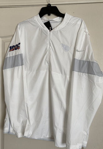 Tennessee Titans Nike White NFL 100 Men's XL Sideline Pullover Jacket