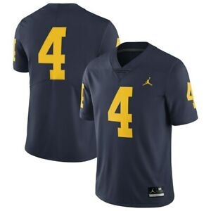 Nike Jordan University of Michigan Football #4 Game Jersey Adult Blue