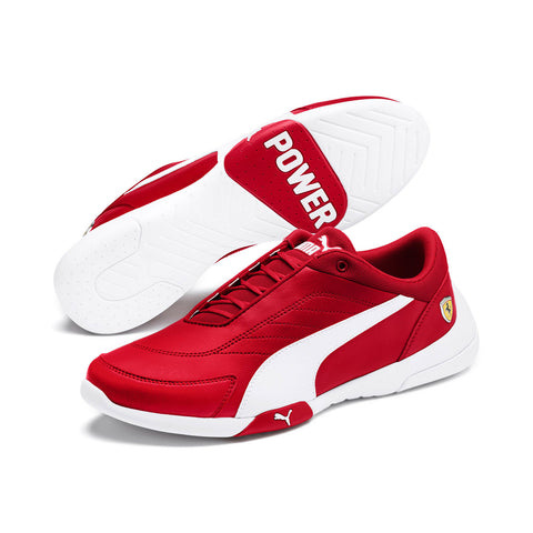 Puma Scuderia Ferrari Kart Cat III Men's Shoes Rosso Corsa White Size 14.