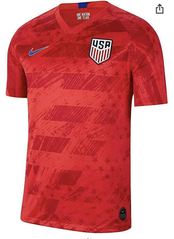 Nike 2019/20 USA National Team Mens Away Stadium Soccer Jersey Red