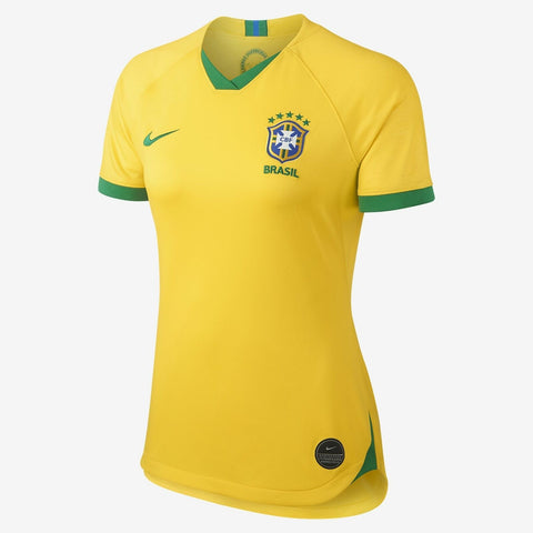 Nike Brazil 2019-20 Women's WC Home Jersey - Yellow - Teammvpsports
