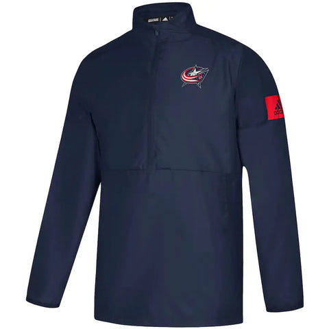 Columbus Blue Jackets adidas Game Mode climalite Quarter-Zip Jacket - Navy. - Teammvpsports