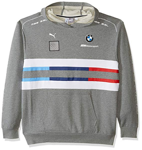 Puma Men's BMW Motorsport Gray Heather Street Midlayer Pullover Hoodie Size XL - Teammvpsports