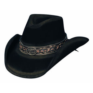 Bullhide Black Weathered Cowboy Hat - Billy the Kidd Size S, M, L, XL - Teammvpsports