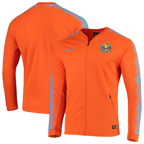 Men's Nike Orange Club America Anthem Performance Full-Zip Jacket Size M. S - Teammvpsports