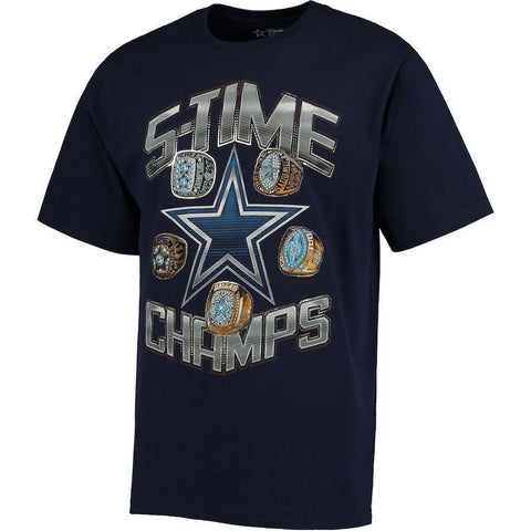 Dallas Cowboys Authentic Apparel Ring Time Blue Tee Shirt Size M - Teammvpsports