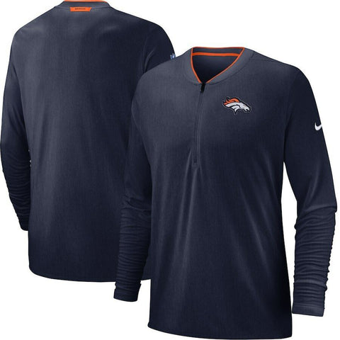 NFL Denver Broncos Nike Dri-Fit Navy Blue Coaches 1/2 Zip Golf Jacket Size XL - Teammvpsports