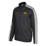 Adidas Chicago Blackhawks Black Full Zip Track Jacket - Teammvpsports