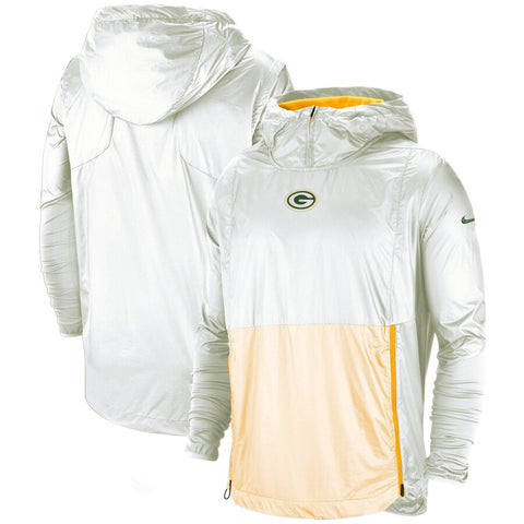 Nike Green Bay Packers White Alpha Fly Rush Rain Jacket. - Teammvpsports