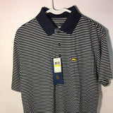 Jack Nicklaus Golden Bear Dark Blue Striped Polo Shirt