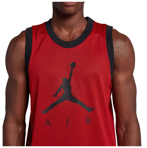 NEW Jordan Men's Nike Jumpman Air Mesh Jersey Tank (Large, Gym Red/Black)