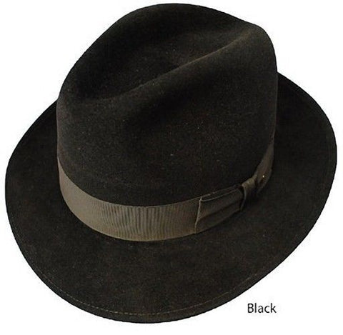 Dobbs Fedora - Steve Harvey Collection - The Waverly  - Size 7 1/8 - Black - Teammvpsports