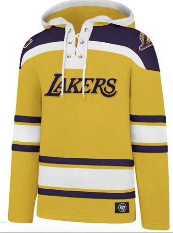 '47 Brand Men's Los Angeles Lakers Superior Lacer Hoodie Size 2XL - Teammvpsports