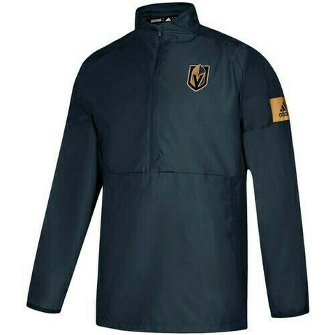 Vegas Golden Knights adidas Game Mode Quarter-Zip Jacket - Black - Teammvpsports