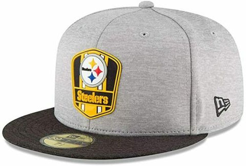 New Era Pittsburgh Steelers NFL Sideline 18 Road On Field Cap 59fifty Fitted Size 7 3/8