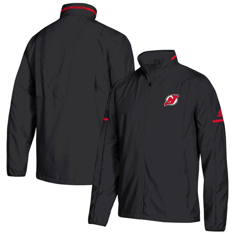 adidas NHL Full Zip Rink Jacket (Large, New Jersey Devils)