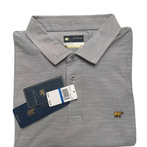 Jack Nicklaus Mens Gray StayDri Golf Polo Shirt