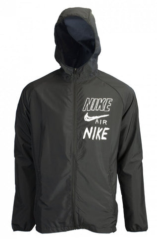 Nike Men's Essential Water-Resistant Hooded Windbreaker Black - Teammvpsports