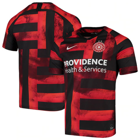Portland Thorns FC Nike 2018/19 Replica Stadium Home Jersey - Red/Black - Women's - Teammvpsports