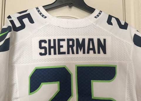 Nike Richard Sherman Seattle Seahawk Elite Authentic Player Issue Jersey Size 52 - Teammvpsports