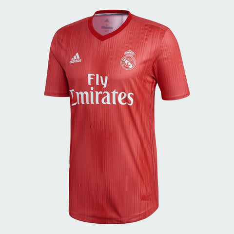 Adidas Real Madrid Third Soccer Jersey 18/19 Coral Red Size L, XL,XL - Teammvpsports