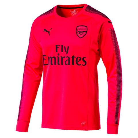 Puma Arsenal Goalkeeper Jersey 2017-2018 Long Sleeve Bright Plasma Size L - Teammvpsports