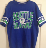 Seattle Seahawks Nike Blue Short Sleeve Shirt 100% Cotton - Size XL  MRSP $50 - Teammvpsports