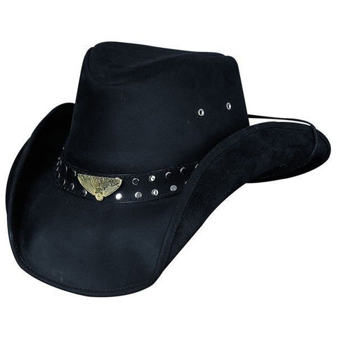 Bullhide Leather Western Cowboy Hat - Shapeable Brim - BORN TO RIDE - Teammvpsports