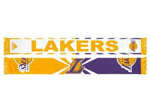 Adidas Los Angeles Lakers Jacquard Purple Scarf - Teammvpsports