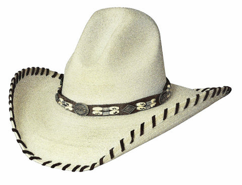 Bullhide Palm Leaf Hat Women's Western THE LAST CHIEF 20X Shooter / Gus Crown - Teammvpsports