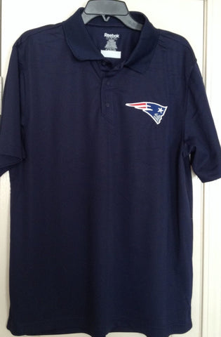 New England Patriots Reebok Blue Play Dry Golf Polo Shirt Sizes L, XL - Teammvpsports