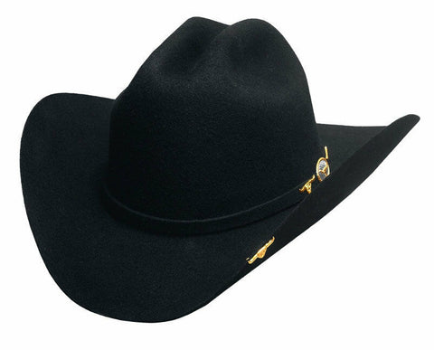 Bullhide 6X Montecarlo Collection Wool Felt Cowboy Hat - AVIONADO - BLACK - Teammvpsports