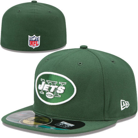 NEW YORK JETS New Era 59FIFTY Official NFL On Field Cap Green Size 71/2 - Teammvpsports