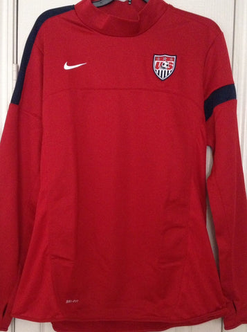 Nike Soccer USA Women's National Team Red Sideline Pullover Track Jacket Size XL - Teammvpsports