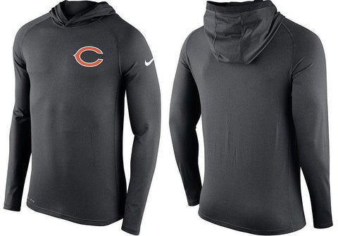 Nike NFL Chicago Bears Dri-FIT Touch Lightweight Gray Hoodie - Men's - Size S, - Teammvpsports